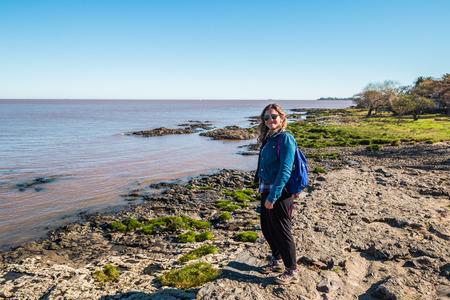 Colonia Del Sacramento - July 02, 2017: Coast line of Colonia Del Sacramento, Uruguay Editorial