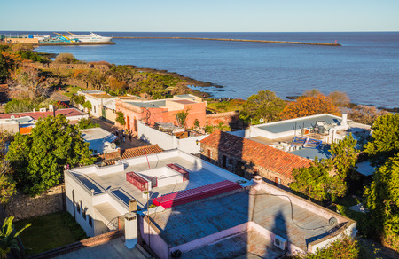Colonia Del Sacramento - July 02, 2017: Panoramic view of Colonia Del Sacramento, Uruguay Imagens - 97672018