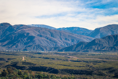 Panorama of the region of Mendoza, Argentina Stock Photo