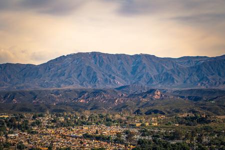 Mendoza - July 05, 2017: Panorama of the region of Mendoza, Argentina