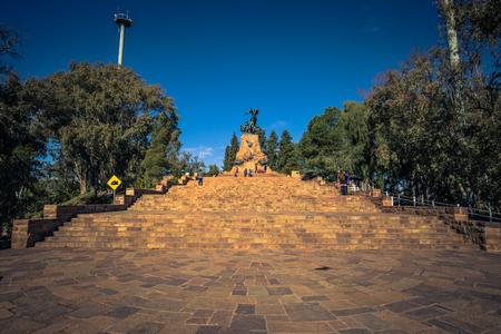 Mendoza - July 05, 2017: Memorial statue at Cerro de la Gloria in Mendoza, Argentina Editorial