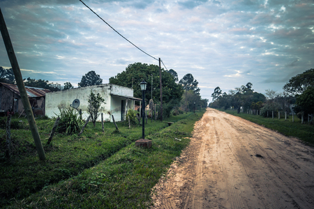 Colonia Carlos Pellegrini - June 28, 2017: Town of Colonia Carlos Pellegrini, Argentina Editorial