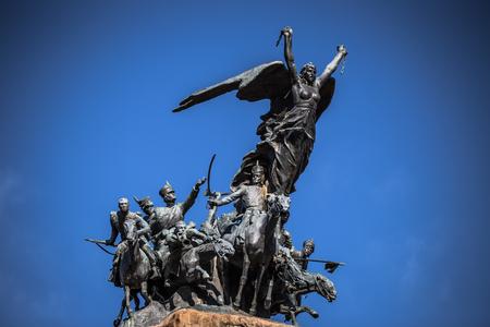 Mendoza - July 05, 2017: Memorial statue at Cerro de la Gloria in Mendoza, Argentina Stock Photo
