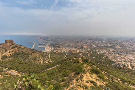 Panoramic view of the city of Oran, Algeria Stok Fotoğraf - 97618348