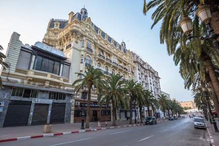 Oran - June 02, 2017: The streets of the center of Oran, Algeria Stok Fotoğraf - 97599010