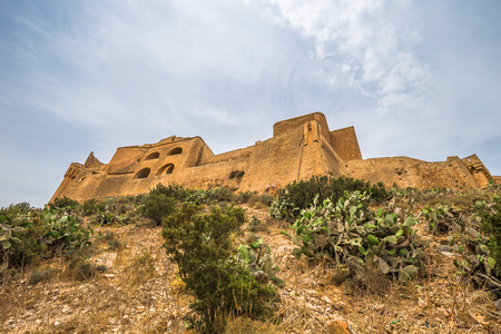 Holy Cross Fort at the top of the city of Oran, Algeria Stok Fotoğraf - 97618425