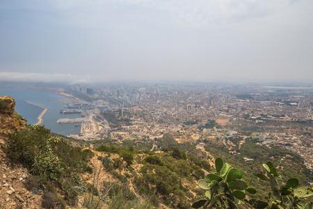 Oran - June 02, 2017: Panoramic view of the city of Oran, Algeria