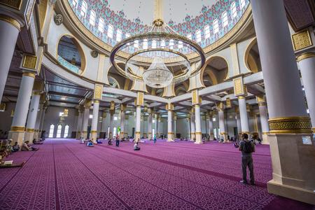Oran - June 03, 2017: Inside the Ibn Badis central mosque of Oran, Algeria Editöryel
