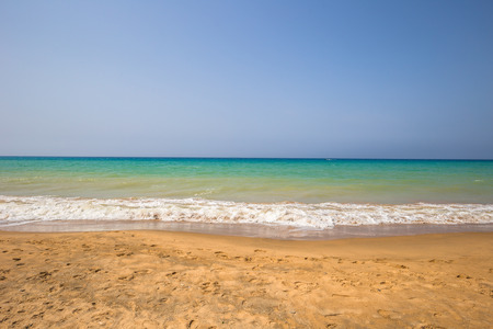 Oran - June 03, 2017: The beach of Oran, Algeria Stok Fotoğraf - 105347052