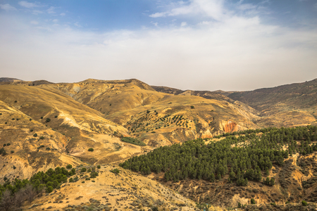 Wild landscape of the countryside of Algeria Stock Photo