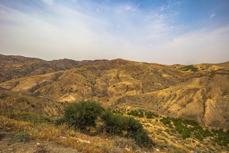 Algeria - June 09, 2017: Wild landscape of the countryside of Algeria