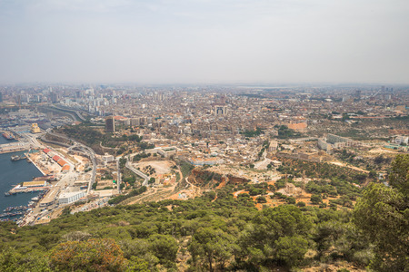 Panoramic view of the city of Oran, Algeria Stok Fotoğraf - 97684035