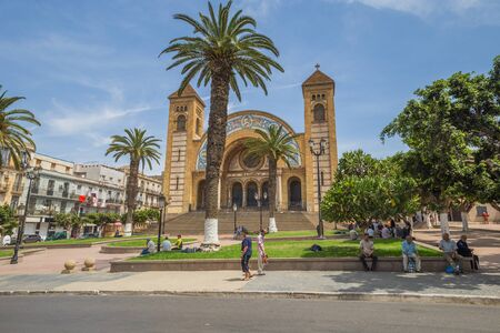 Oran - June 10, 2017: Cathedral of the Sacred Heart in Oran, Algeria