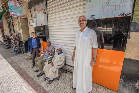 Ain Temouchent - June 02, 2017: Muslim citizens of Ain Temouchent, Algeria