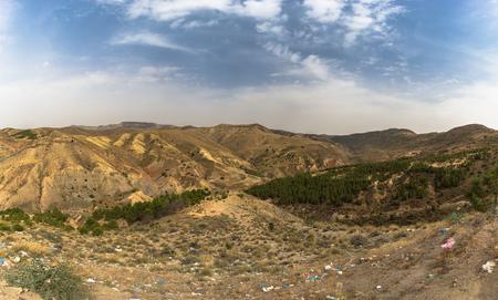 Wild landscape of the countryside of Algeria Stok Fotoğraf