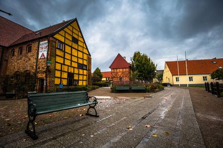 Ystad - October 22, 2017: Historic center of the town of Ystad in Skane, Sweden