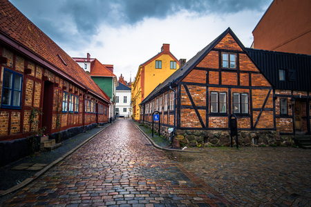 Ystad: Historic center of the town of Ystad in Skane, Sweden