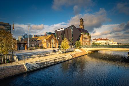 Malmo - October 22, 2017: Historic center of Malmo, Sweden Editorial