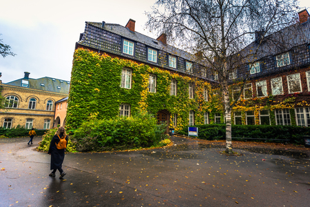 Lund - October 21, 2017: Campus of the University of Lund, Sweden