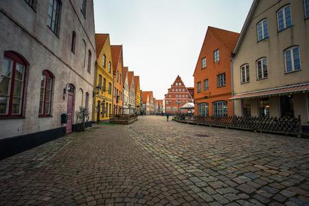 Hjarup - October 21, 2017: Historic center of Hjarup, Sweden Editorial