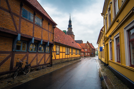 Ystad: The historic center of the town of Ystad in Skane, Sweden Stock Photo