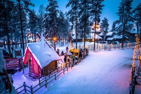 Rovaniemi - December 16, 2017: Santa Claus village of Rovaniemi, Finland