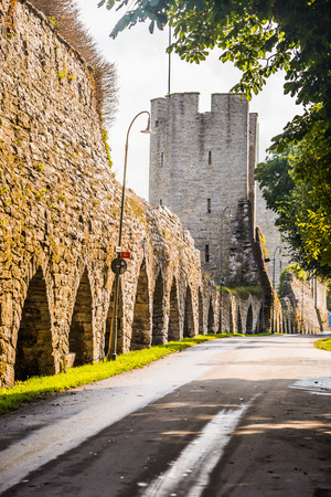Visby - September 23, 2018: Old town of Visby in Gotland, Sweden Stock fotó - 103203482