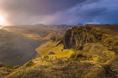 Dyrholaey - May 04, 2018: Landscape of cape Dyrholaey, Iceland