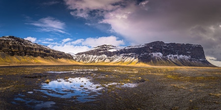 Icelandic wilderness- May 05, 2018: Wild landscape of Iceland Stock Photo