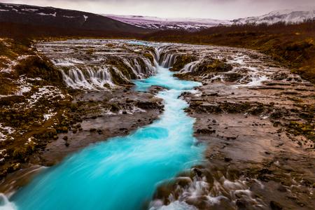 Bruarfoss Waterfall, Iceland Stock fotó