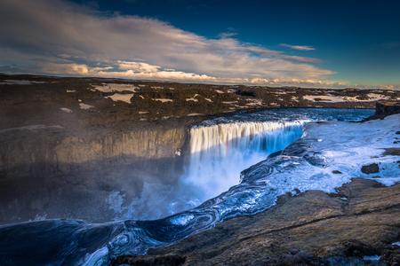 Panorama of Dettifoss waterfall, Iceland Stock Photo