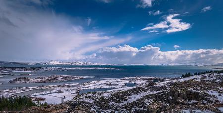 Panorama of Thingvellir National Park, Iceland