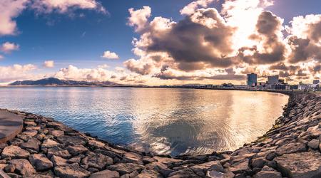 Reykjavik - May 02, 2018: Panorama of the landscape around Reykjavik, Iceland