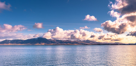 Panorama of the landscape around Reykjavik, Iceland
