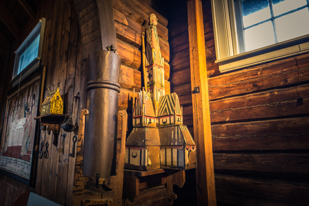 Hedalen - July 28, 2018: Inside the Wonderful Hedalen Stave Church, Norway