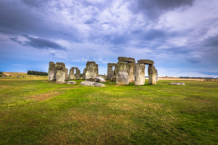 Stonehenge - August 07, 2018: Ancient monument of Stonehenge, England Stock Photo