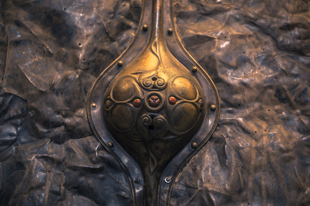 London - August 06, 2018: Detail of a Celtic Shield in the Brtitish Museum in London, England
