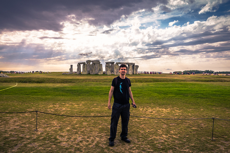 Stonehenge - August 07, 2018: Ancient monument of Stonehenge, England Editorial
