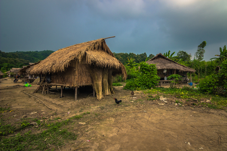 Mae Hong Son - October 18, 2014: Long neck village of Mae Hong Son, Thailand