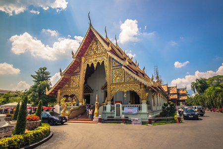 Chiang Mai - October 18, 2014: Buddhist temple in Chiang Mai, Thailand