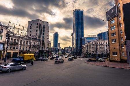 Kiev - September 28, 2018: Urban area of Kiev, Ukraine