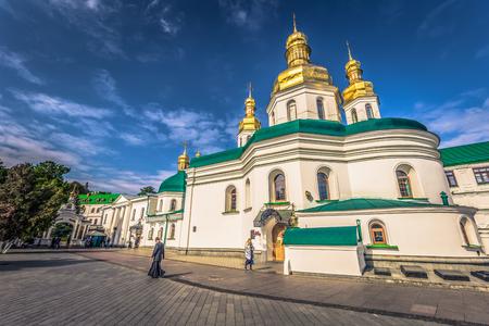 Kiev - September 28, 2018: Orthodox Church in the Pechersk Lavra monastery in Kiev, Ukraine