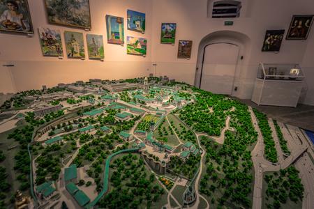 Kiev - September 28, 2018: Miniature of the Pechersk Lavra monastery in Kiev, Ukraine