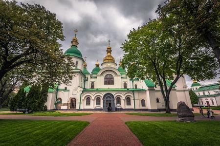 Kiev - September 28, 2018: Saint Sophia Orthodox monastery in Kiev, Ukraine