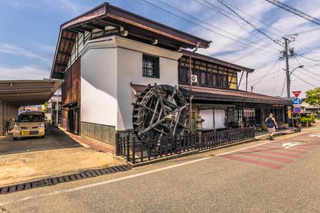 Takayama - May 26, 2019: The streets of the old town of Takayama, Japan