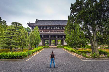 Kyoto - May 28, 2019: Buddhist temple of Tofukuji in Kyoto, Japan