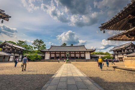 Ikaruga - June 03, 2019: The Horyu-Ji, temple in Irakuga, Nara Perfecture, Japan