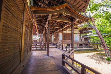 Kyoto - May 30, 2019: Daikakuji Buddhist temple in Kyoto, Japan