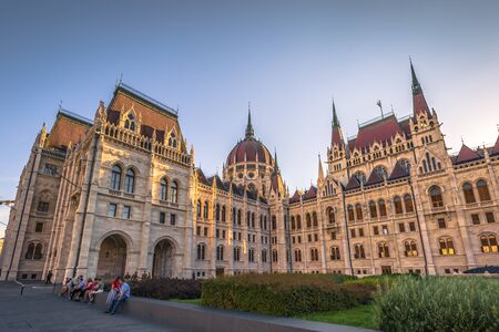 Budapest - June 21, 2019: The Parliament building of Budapest, Hungary