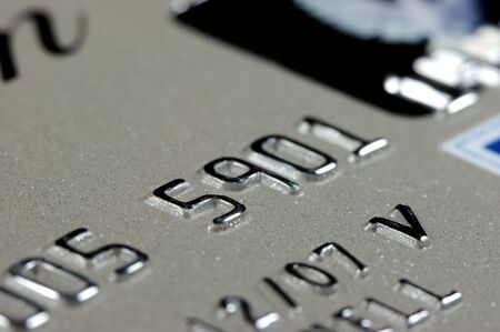 Credit card Closeup with Shallow depth of Field Stock Photo
